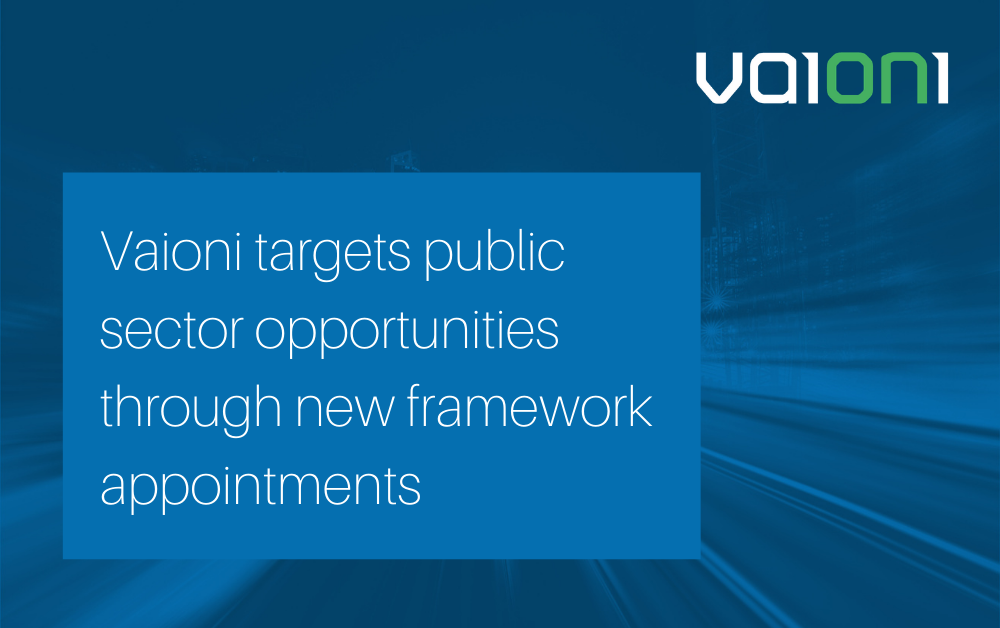 Vaioni targets public sector opportunities through new framework appointments